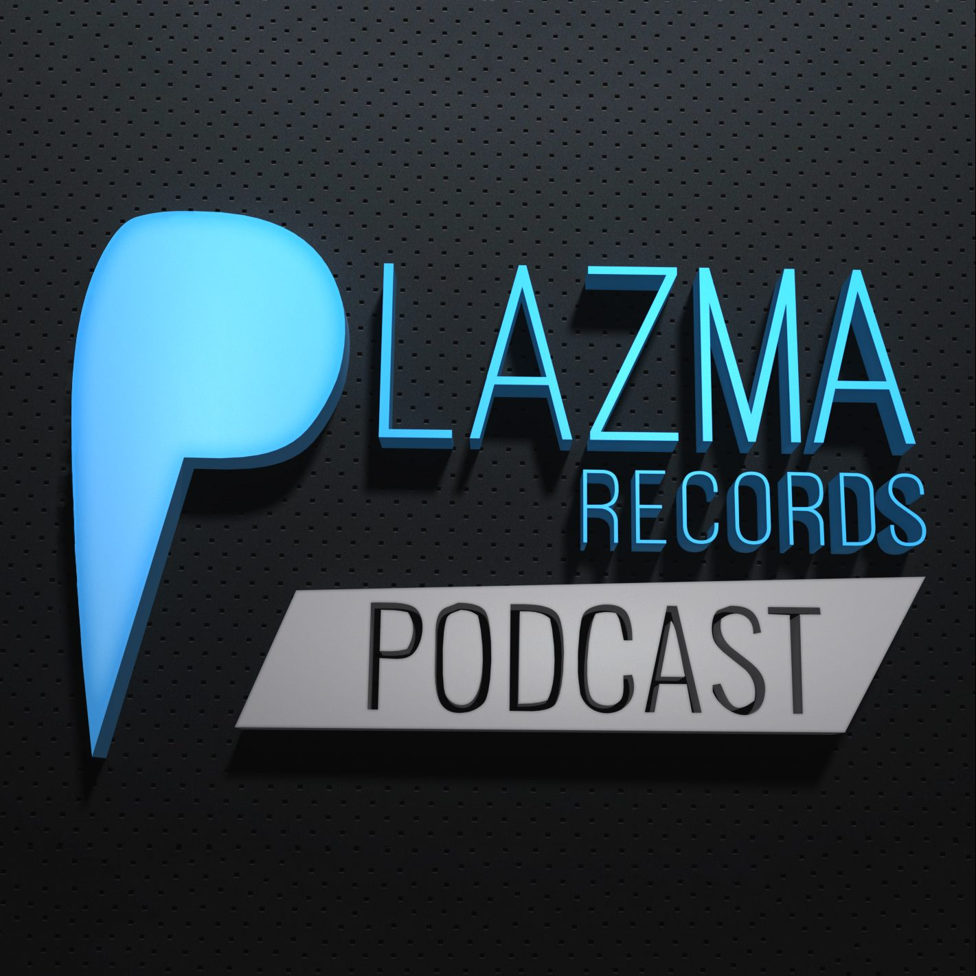 Covert artwork with 3D text effect for Plazma Records | IKOMS. Graphic design