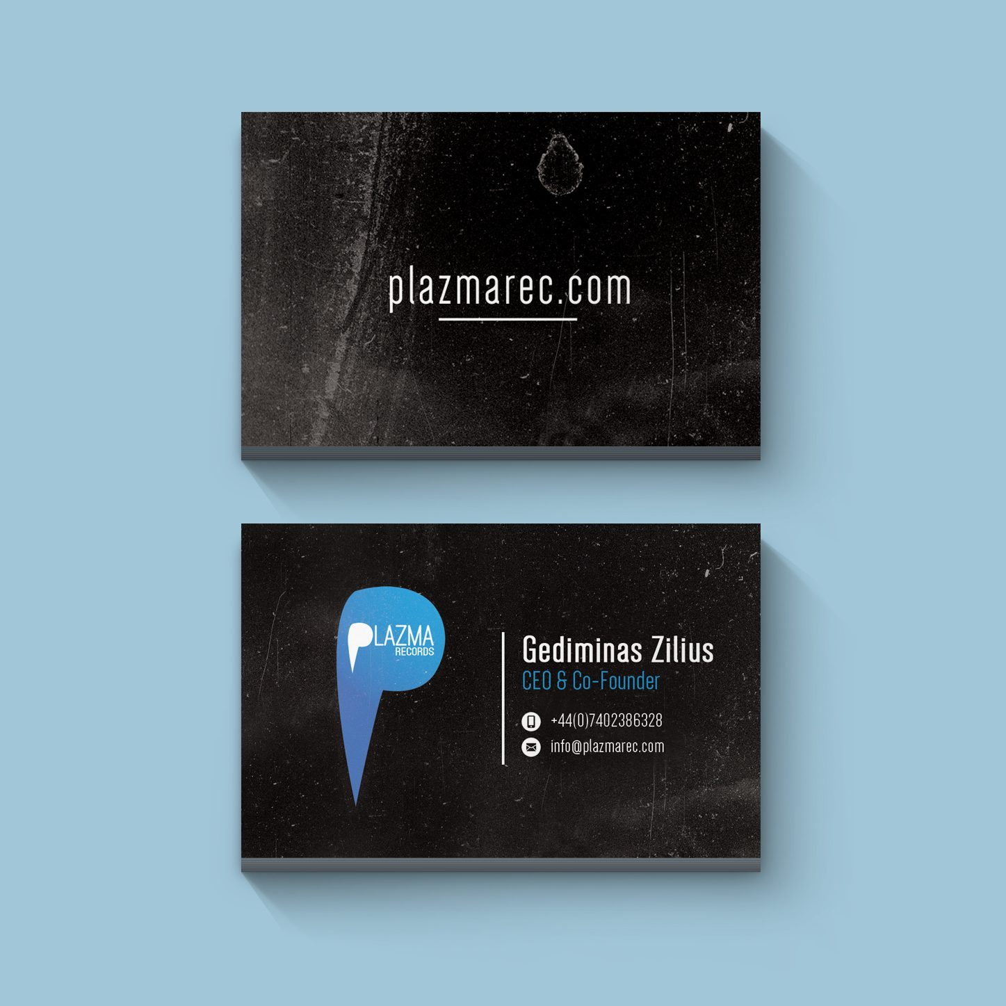 Record Label Business cards Minimal Design