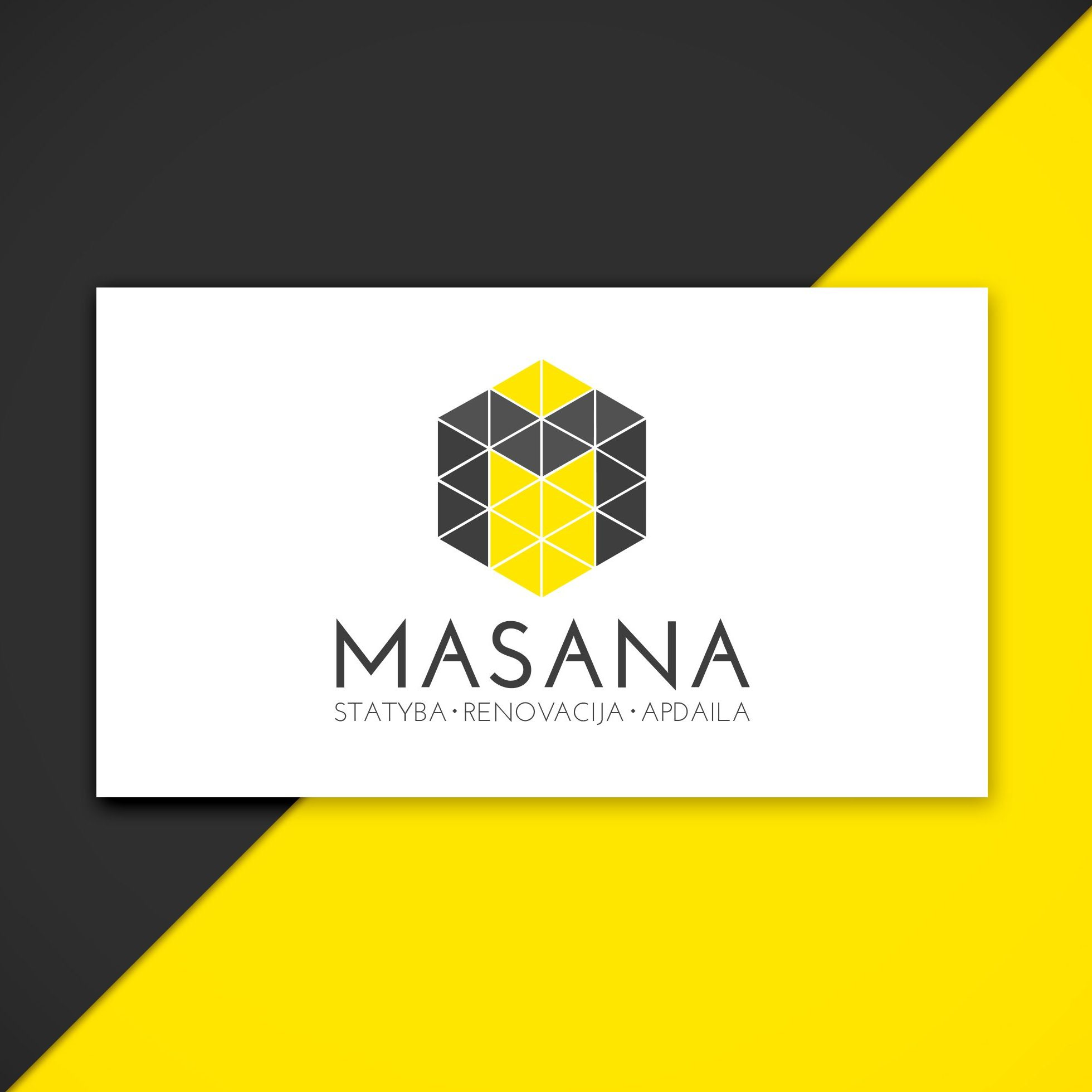 Logo design for a construction company | IKOMS. Graphic design