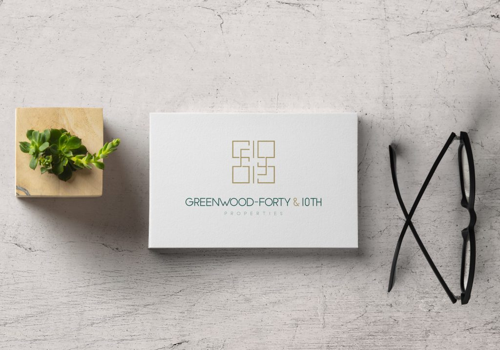 Greenwood-Forty & 10th   Logo design for a real estate investment company