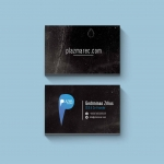 Minimalist Business Cards Design for an founder of Techno Record Label | IKOMS. Graphic Design