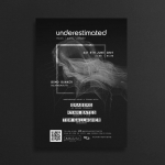 Underestimated | Techno & House Event Poster and banner | IKOMS. Graphic Design