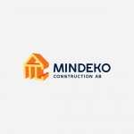 Logo and business cards design for a construction company 'Mindeko Construction AB' | IKOMS. Graphic Design